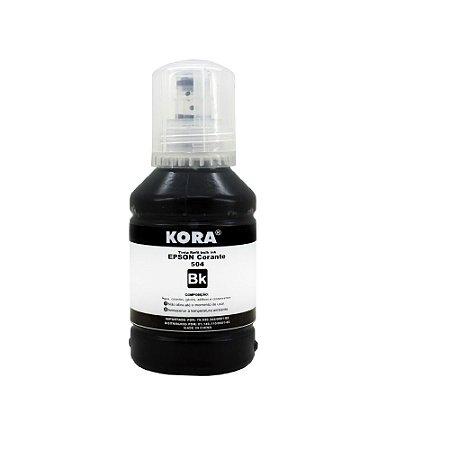 Refil Tinta Compativel Epson T504 504 Preto L6161 L4150 L4160 L6191 L6171 T504 127ml Kora