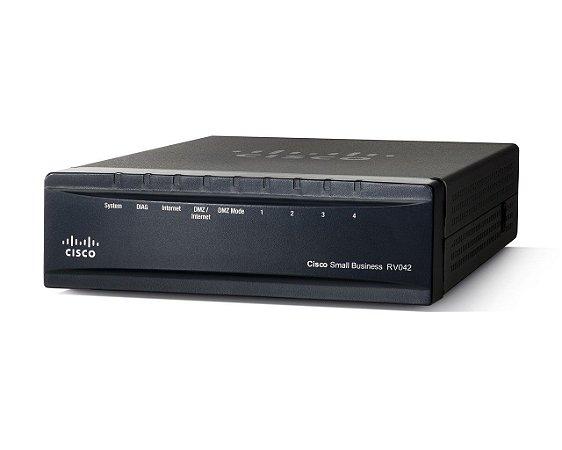 Roteador Cisco Rv042 Portas 2 Wan E 4 Lan 10/100