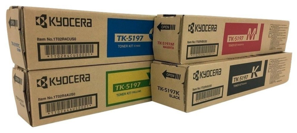 Kit c/ 4 Toner Original Kyocera Tk-5197 Tk5197 K M C Y Kyocera Taskalfa 306 306CI