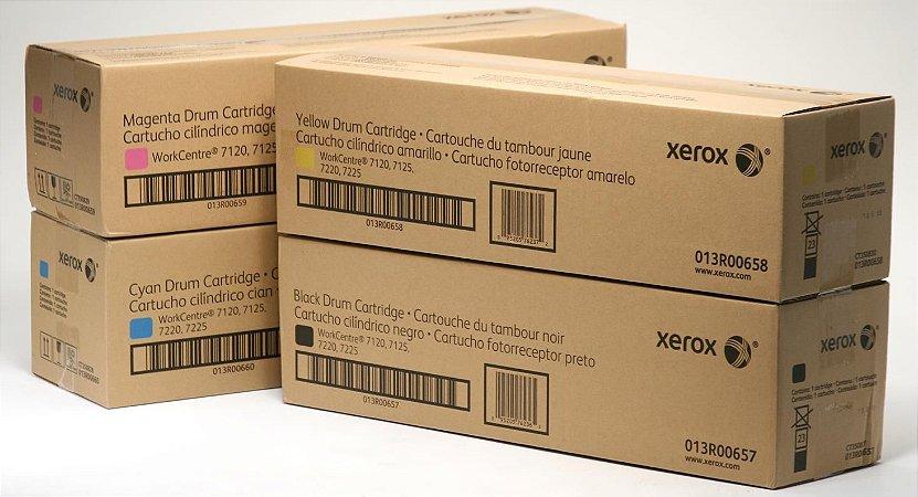 Kit 4 Cores Cilindro Original Xerox Wc 7120 7125 7220 7225 K M C Y