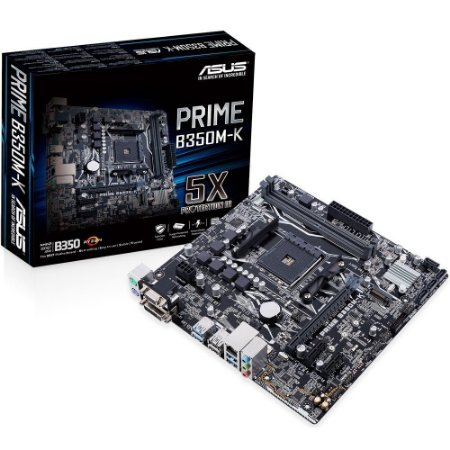 Placa Mãe ASUS Prime B350M-K Micro ATX Ryzen AMD AM4