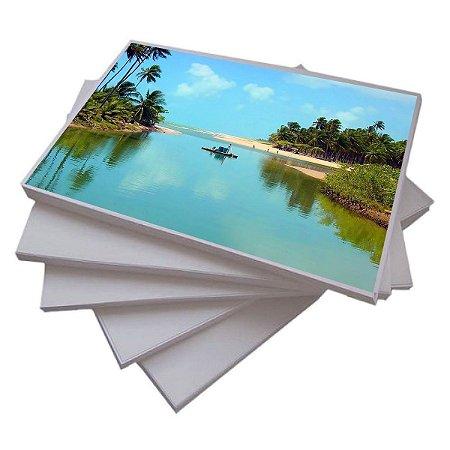 Pct Com 200 Folhas A4 Papel Fotografico Adesivo Matte Fosco 108g