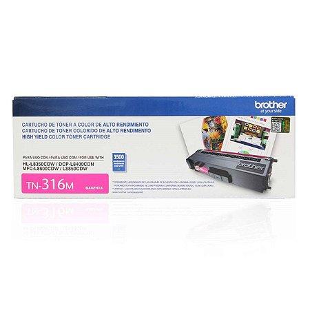 Toner Original Brother TN-316m TN316 Magenta L8400-L8350 L8600 L8850 3.5k