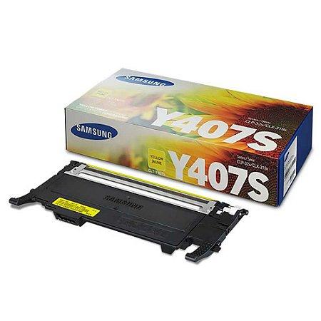 Toner Original Samsung Clt-Y407s Y407 Yellow Clp320 Clp325 Clx3185 Clx3285 1K