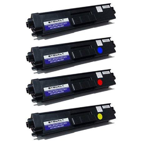 Kit 4 coresToner Compatível Brother Tn419 Black Cyan Magenta Yellow Tn411 Tn413 Tn416 Tn419 L8360 L8610 L8900 L9570