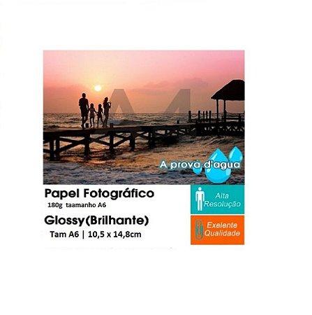 Pct Com 500 Folhas A6 Papel Fotografico Glossy Brilhante 180g Tam A6 | 10,5 x 14,8cm