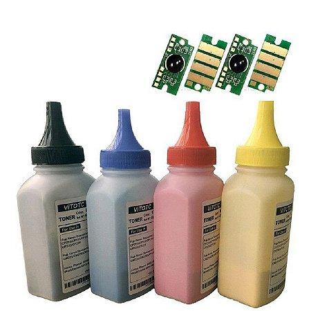 Kit Recarga Toner Tk5232 Po + Chip 4 cores Kyocera Tk5232 M5521 P5021 K M C Y