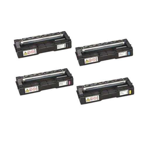 Kit 4 Toner Compativel Ricoh C252HA SpC242 SpC232 SpC252 K M C Y