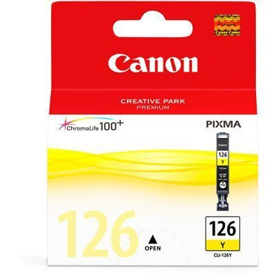 Cartucho Original Canon Cli-126Y Yellow iP4810 Pro9000 iX6510 MG5210 MG5310 MG6110 MG6210 9ml