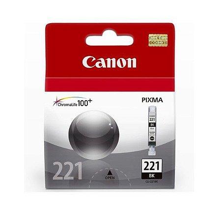Cartucho Original Canon Cli221 Cli-221 Cli-221bk Preto  9ml