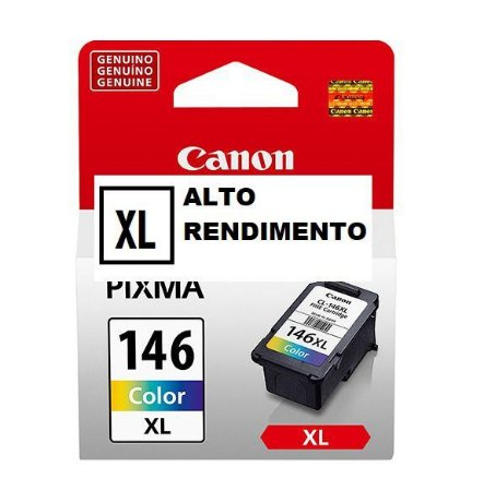 Cartucho Original Canon Cl-146XL Alto Rendimento MG2510 Mg2910 Mg3010 Ts3110 13ml
