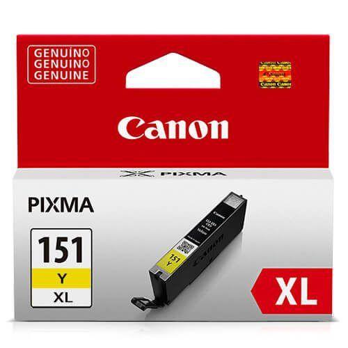 Cartucho Original Canon Cli151XL Cli-151xl Cli-151XlY Yellow Ix6810 1Ip8710 11ml Alto Rendimento