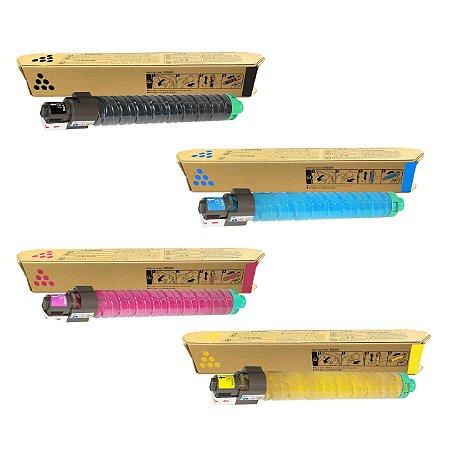 Kit 4 Cores Toner Compativel Ricoh Mp C3003 C3004 C3503 C3504 K M C Y