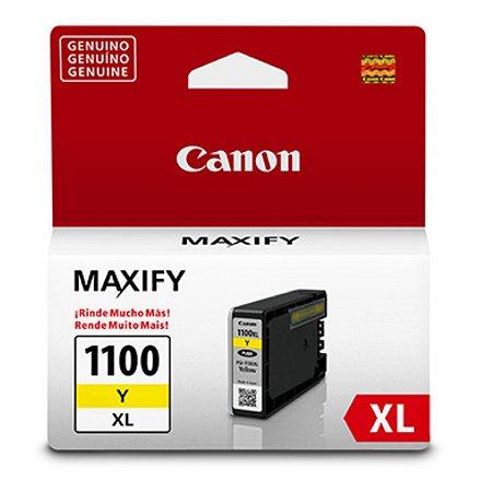 Cartucho Original Canon PGI-1100XL PGI1100XL Amarelo Mb2710 Mb2010 Mb2110 12ml