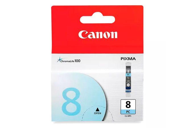 Cartucho Original Canon Cli 8 Cli8 Cli8PC Foto Cyan Pro9000 iP4500 13ml