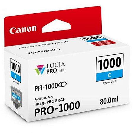 Cartucho Original Canon Pfi-1000 Pfi1000 Cyan imagePROGRAF PRO-1000 80ml
