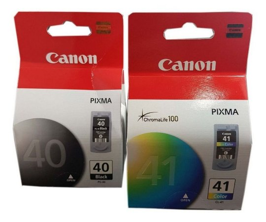 Kit com 2 Cartuchos Original Canon Pg40 Pg-40 + Cl41 Cl-41