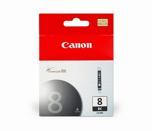 Cartucho Original Canon Cli-8 Bk Cli8Bk Preto iP3500 iP4200 iP4300 iP4500 MP520 MP600 Pro9000 13ml