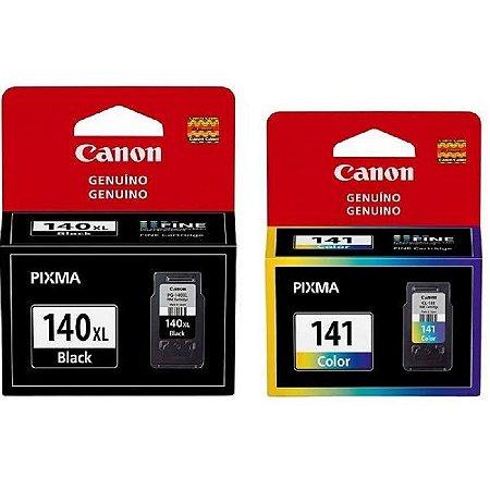 Combo Cartuchos Original Canon Pg140xl Pg-140xl 11ml Cl141 Cl-141 8ml Mg3610 Mg3510