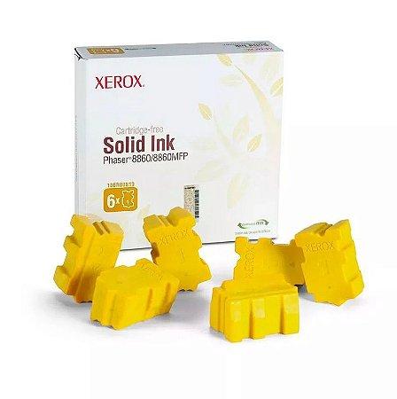 Bastão Cera Original Xerox 8860 Yellow 108r00819 c/ 6un