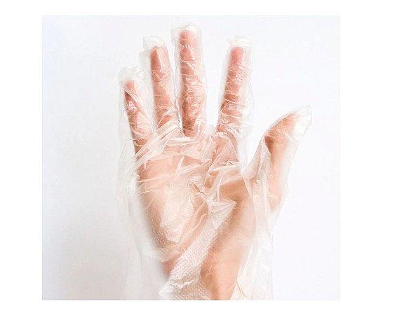 100 Unidades Luvas Plástica Descartável