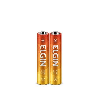 Pilha Palito Elgin Normal C/2 unidades AAA - Zinco-Carvão R03
