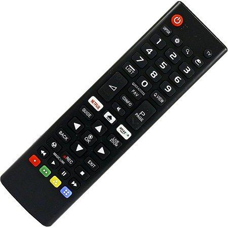 Controle Smart Tv AKB75095315 Botão Netflix Amazon