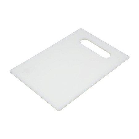 Tábua De Corte Alimentos Polipropileno Branco 37 X 23cm