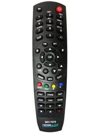 Controle Remoto Tocombox Energy HD PFC HD Zeus HD Zeus IPTV