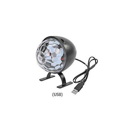 Bola Maluca Led Rgb USB Rítmico Iluminação Balada Festa