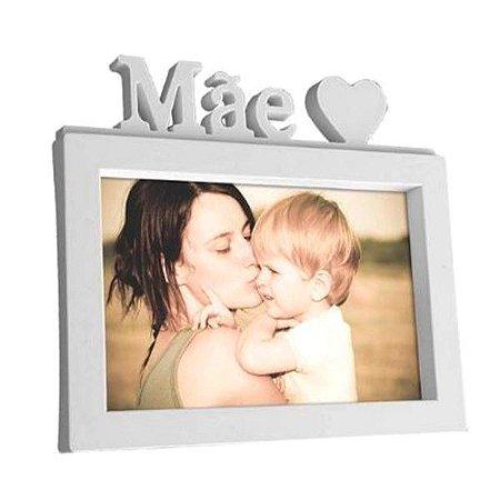 Porta Retrato Mãe 15 x 20 cm Branco decorativo Plástico