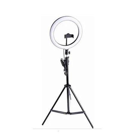 Kit Foto Produto 25,5 cm C/ Tripé, Controle USB Led Circular