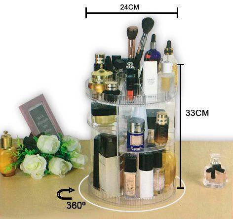 Organizador Giratório 360º Para Maquiagem  33 x 23 Cm