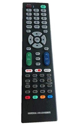 Controle Remoto Universal Tv Lcd / Led / Smart Tv C Netflix
