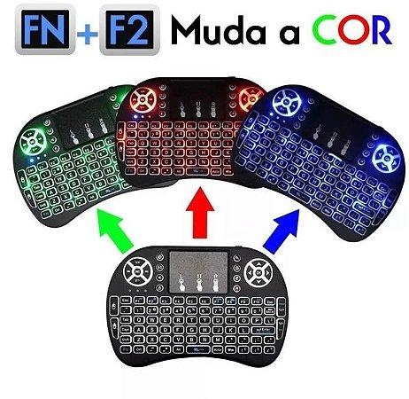Mini Teclado Recarregavel Keyboard Usb Sem fio Touch Pad