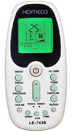Controle Ar Condicionado Komeco Zh/kz-01 / Zh/ez-01
