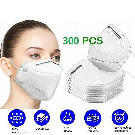 300 UN Máscara Kn95 Proteção  Clip Nasal 4 Camadas