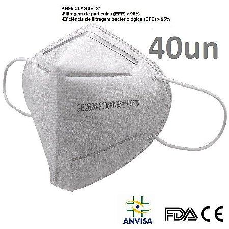 Kit 40 Máscara KN95 Registro Anvisa  FDA CE emb Individualmente
