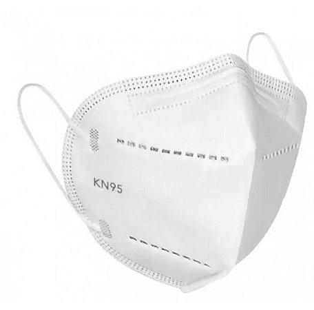 Kit máscaras KN95 descartáveis de proteção facial FFP2 5 camadas clip nasal - 20 Unidades