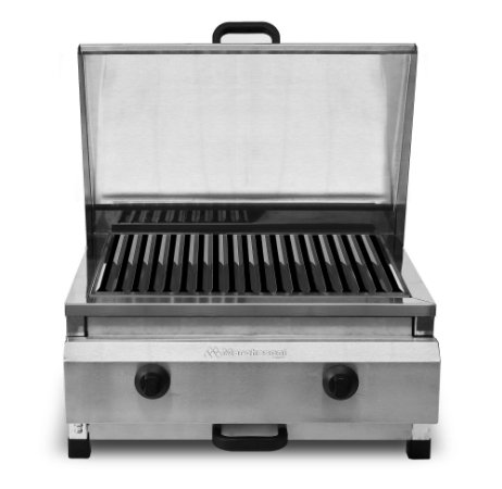 CH 4.052 Char Broiler Gás 50cm 2 Queimadores Total Inox Marchesoni