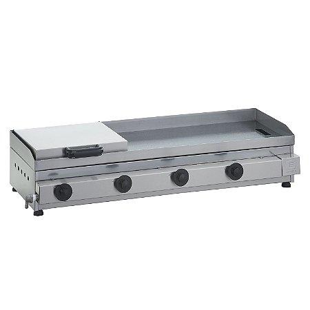SCGP 100 Sanduicheira a Gás 100 x 40 cm com Prensa Linha Prata 4 Queimadores Edanca