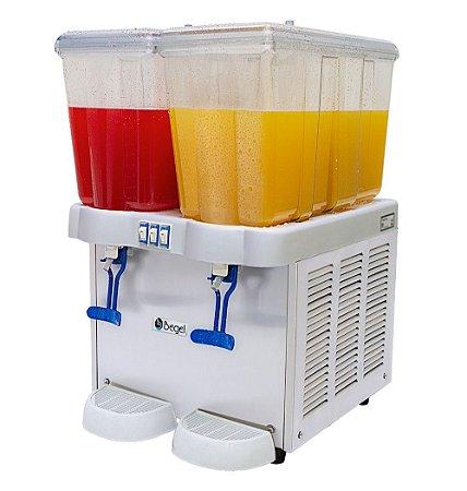 Refresqueira 2 Reservatórios de 16 Litros Cada Linha Comercial Juice Plus II Begel