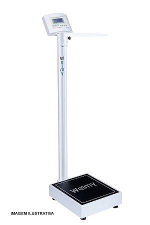 W200 A Balança Eletrônica Farmácia com Régua Antropométrica 200 Kg Welmy