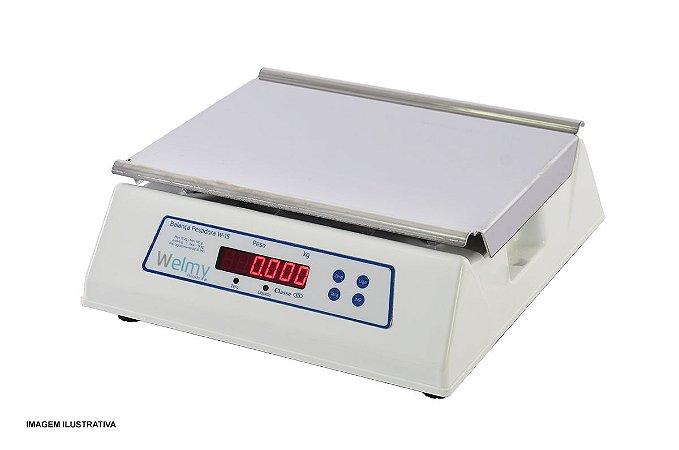 Balança Eletrônica Pesadora de Bancada 30 kg Linha Precisão Welmy