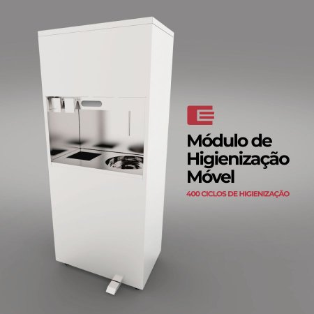 Módulo de Higienização e Assepsia 60 Litros Edanca