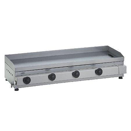 Chapa para Lanches a Gás 100 x 40 cm Linha Prata 4 Queimadores Edanca