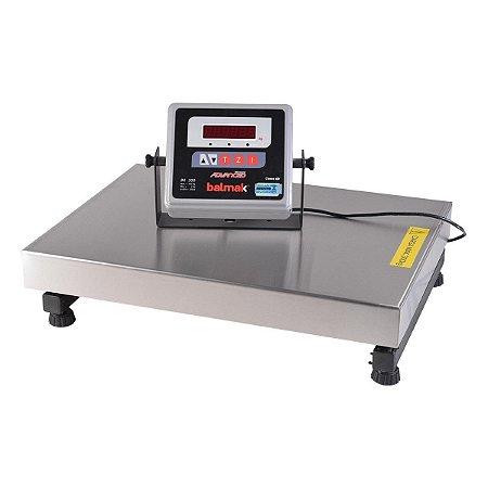 Balança Digital Plataforma 50 x 50 Cm Aço Inox 300 Kg BK-300IQ Balmak