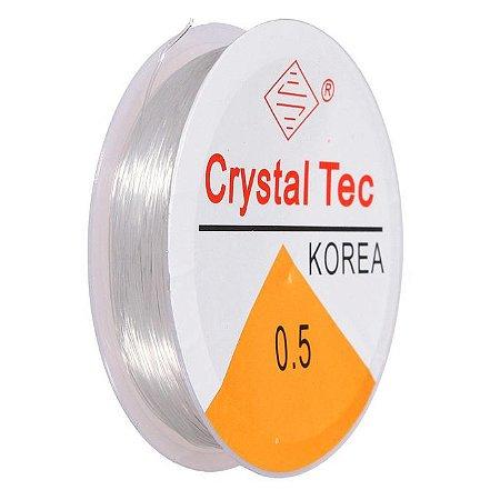 FIO SILICONE 0.5MM TRANPARENTE C/10M - CRYSTAL TEC