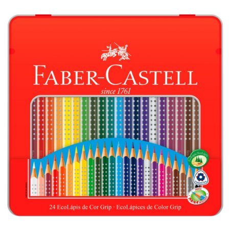 LÁPIS DE COR GRIP 24 CORES - FABER-CASTELL
