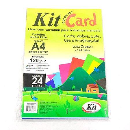 PAPEL COLOR SET KIT CARD A4 COLORIDO C/24FLS - KIT